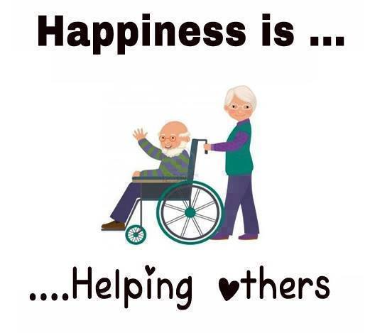 happiness is helping others