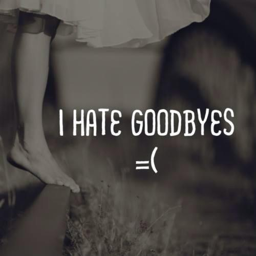 i hate goodbyes